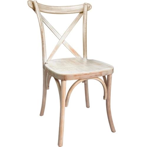 X Back Limewash Chair   Free Cushion